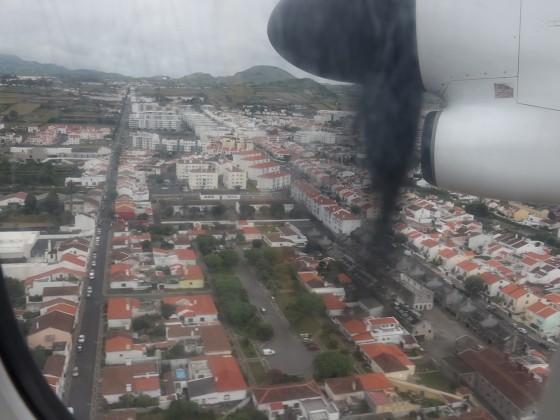 Anflug auf Ponta Delgada - Sao Miguel - Azoren
