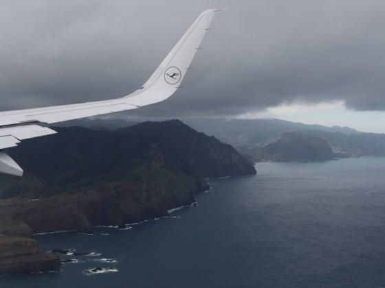 Anflug auf Funchal