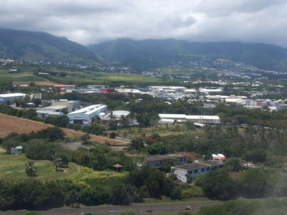 Anflug auf La Reunion