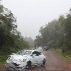 Regen im Forêt de Bébour