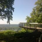 Catwalk oberhalb von Oberdollendorf mit Blick auf den Rhein