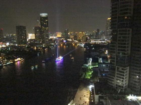 Blick auf den Chao Phraya in Bangkok