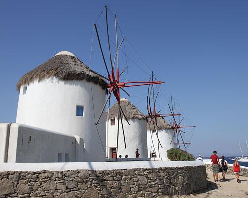 Mykonos und die Windmühlen